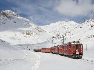 trein wintersport
